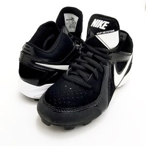 NIKE Sports Cleats White & Black Kid Size 1Y